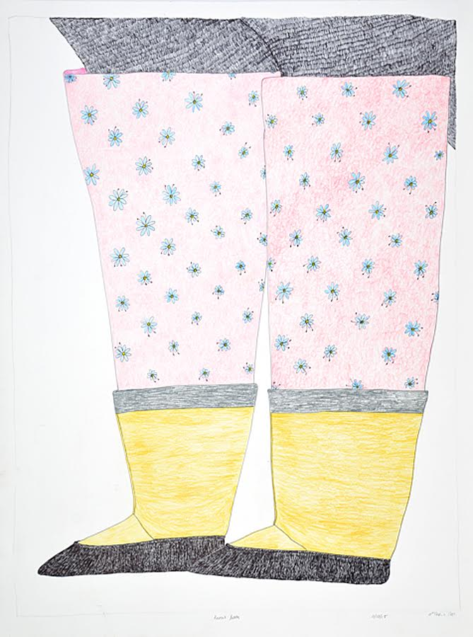 Raven's Boots<br>30 x 22<br>Graphite, Coloured Pencil and Ink<br>$ 1950