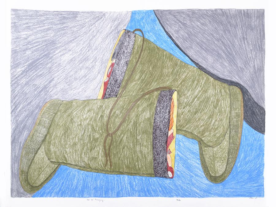 Food for Nulijuuq<br>23 x 30<br>Graphite, Coloured Pencil and Ink<br>$ 1950