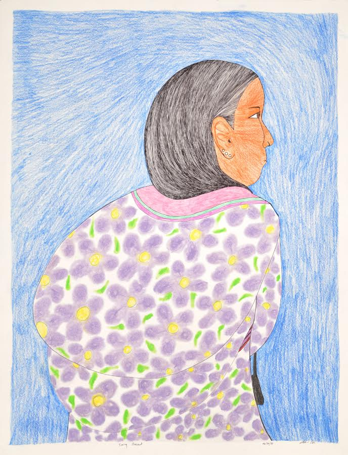 Spring Amaut<br>30 x 23<br>Graphite, Coloured Pencil and Ink<br> $ 1950