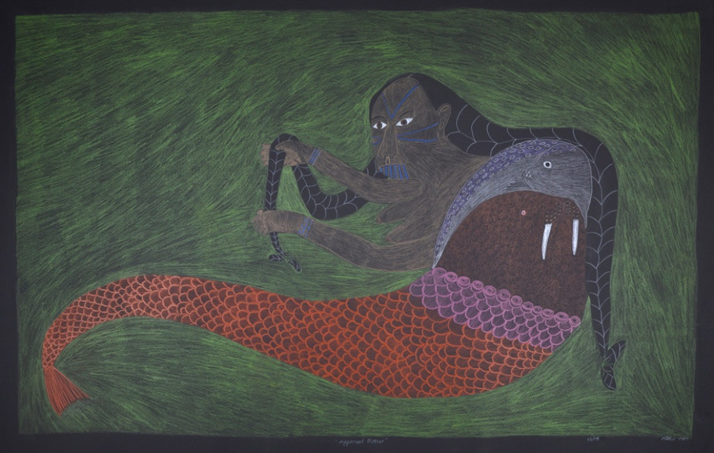 Appeased Mother<br>30 x 44<br>Graphite and Coloured Pencil<br>$ 3300