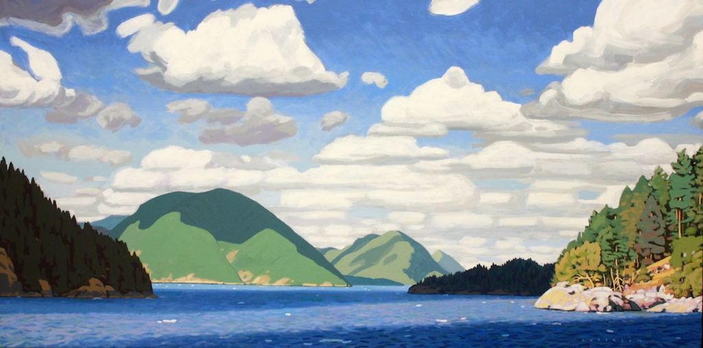 Desolation Sound<Br>24 x 48<Br>Acrylic on Canvas<Br>SOLD