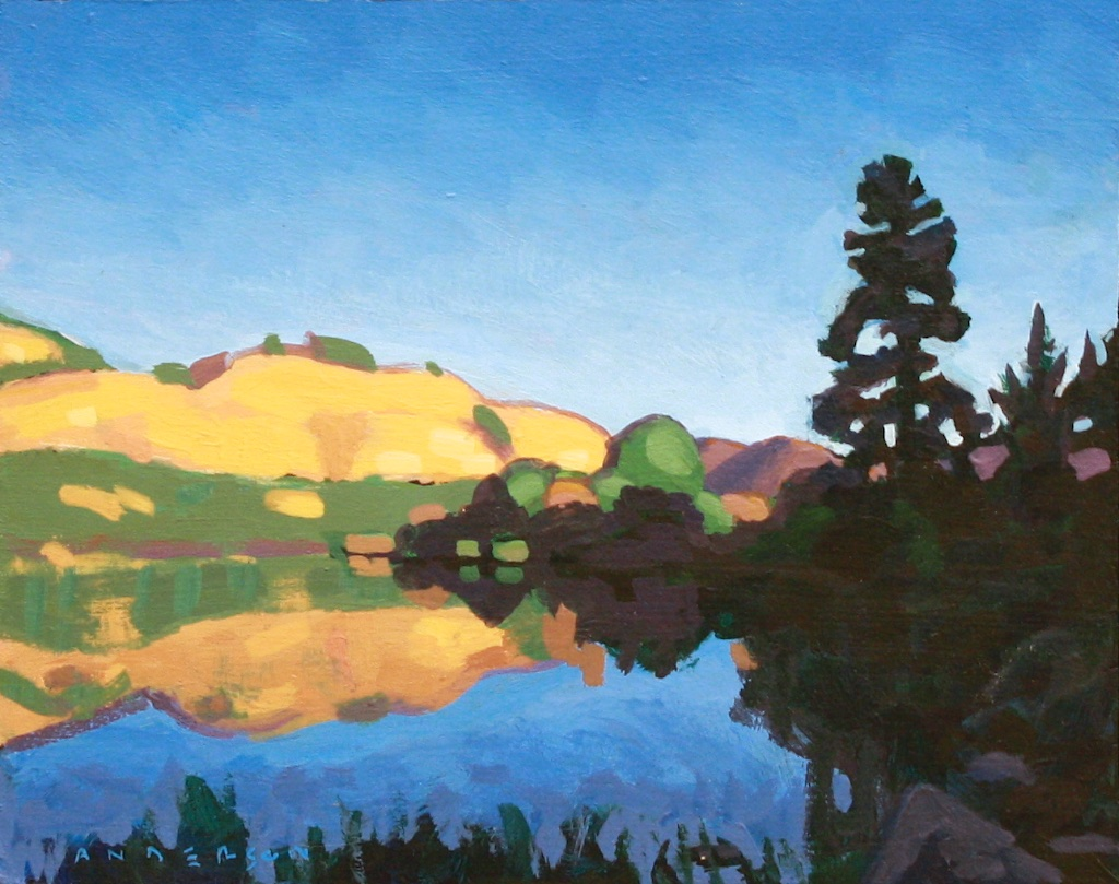 Vaseux Lake<Br>8 x 10<Br>Acrylic on Board<Br>SOLD