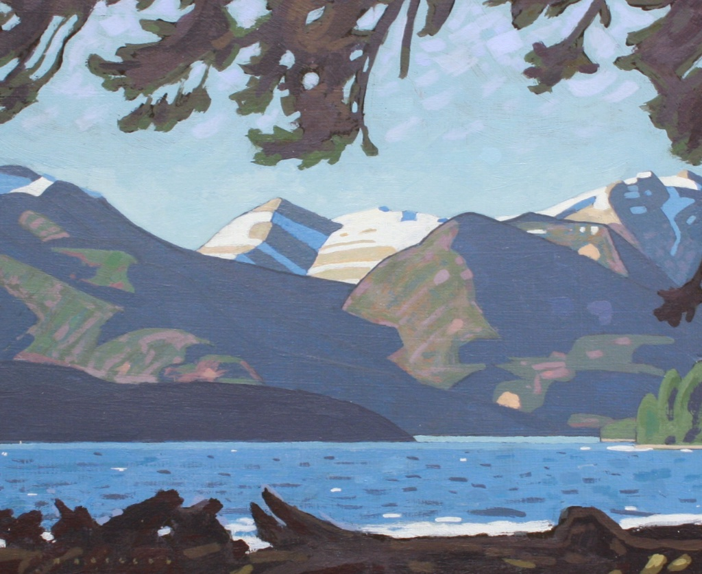 Mount Van Der Est, Spring Blow<Br>8 x 9.5<Br>Acrylic on Board<Br>$ 1000