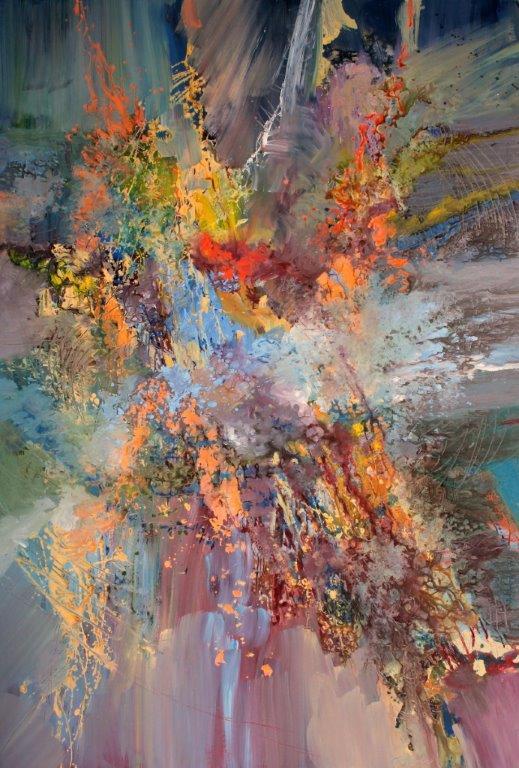 Ernestine Tahedl<Br>Ludwig van Beethoven, Symphony No. 3, Eroica<Br>78 x 54<Br>Acrylic on Canvas<Br>$ 6800