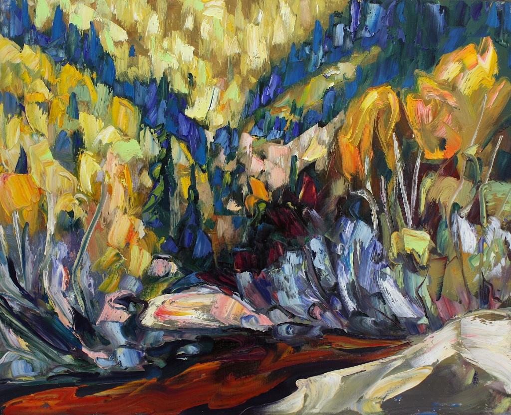 Full Spectrum of September  24 x 30  Oil on Canvas  SOLD