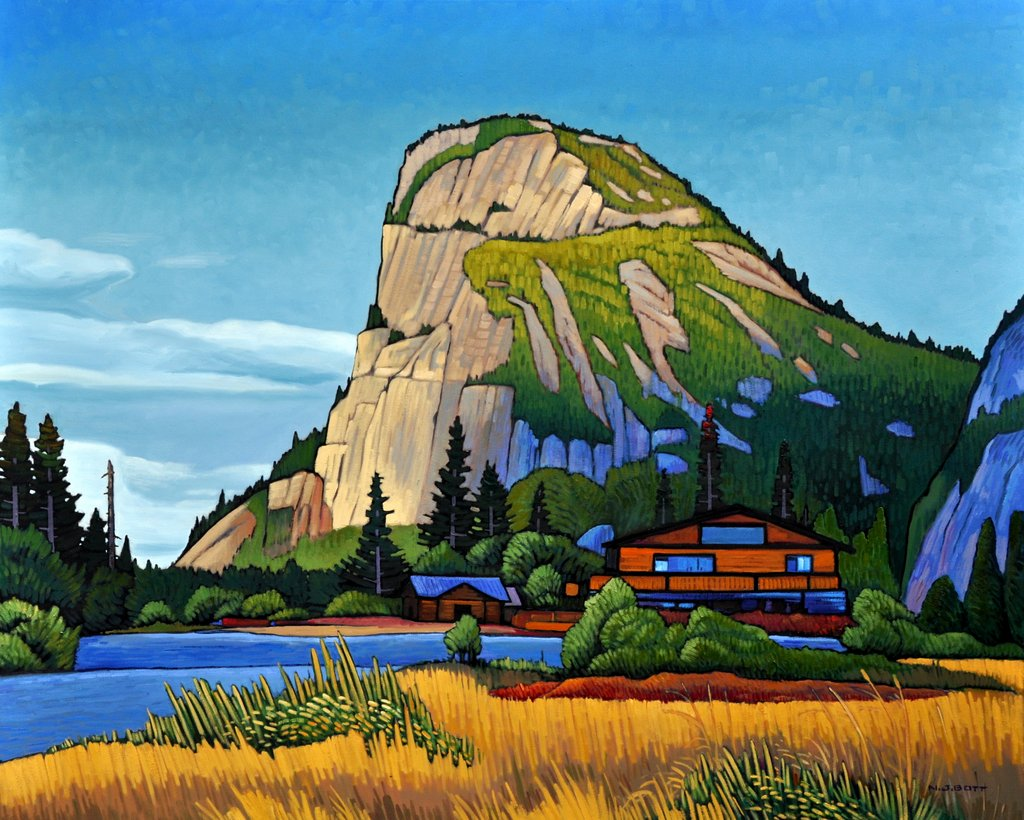 Stawamus Chief - Squamish  48 x 60  Oil on Canvas  SOLD