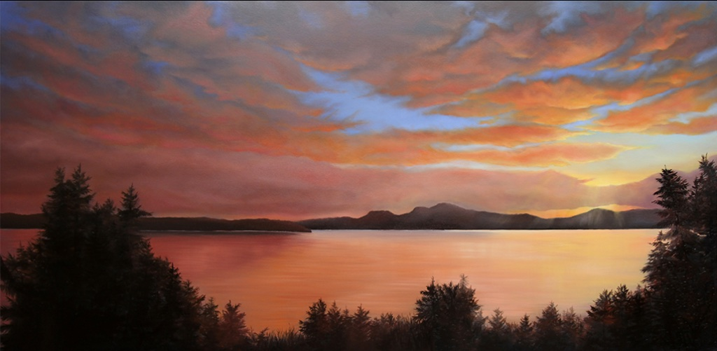 Corinne Wolcoski<Br>Capturing the Light<Br>40 x 84<Br>Oil on Canvas<Br>$ 5900
