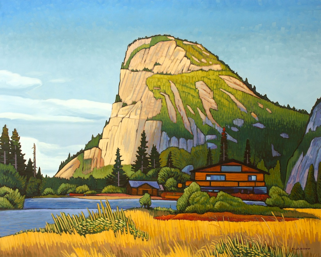 Stawamus Chief - Squamish<br>48 x 60<br>Oil on Canvas<br>$ 13 000