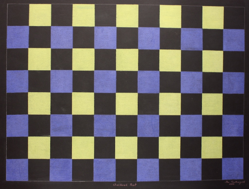 Checkered Past (152-0418)<br>20 x 26<br>Graphite, Colour Pencil and Ink<br>SOLD