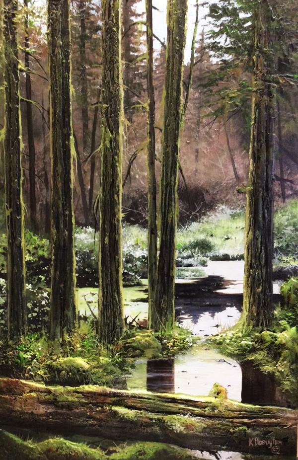 Hush<Br>36 x 24<Br>Acrylic on Canvas<br> $ 3850