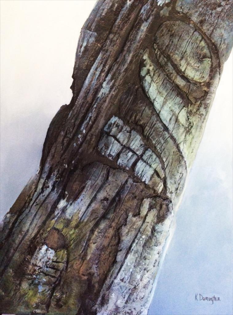 Ursus Arctos<Br>40 x 30<Br>Acrylic on Canvas<br>SOLD