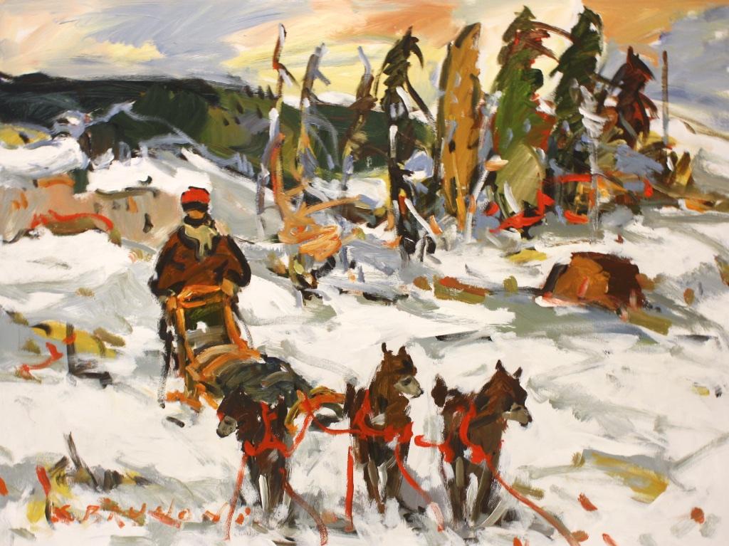 Par Les Monts et Par Les Plains<Br>30 x 40<Br>Acrylic on Canvas<Br>$ 5450