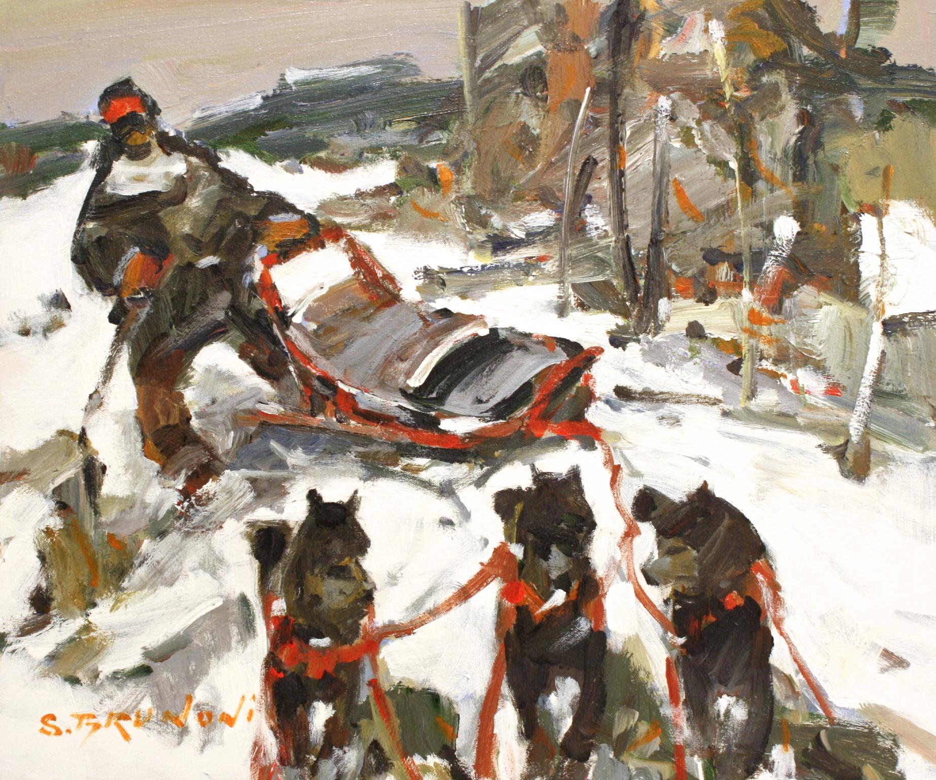 Une Heure Silencieuse<Br>20 x 24<Br>Acrylic on Canvas<Br>$ 2550