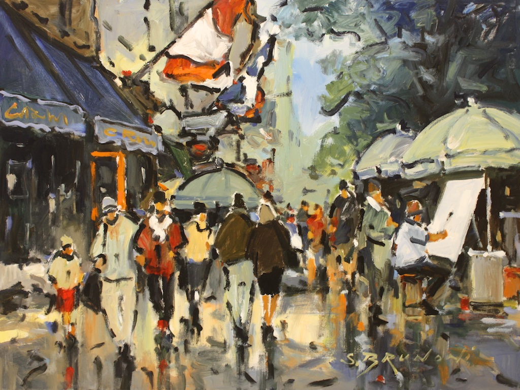 Quebec, Debut Autume - Rue Ste Anne<br>30 x 40<br>Acrylic on Canvas<br>$ 5450