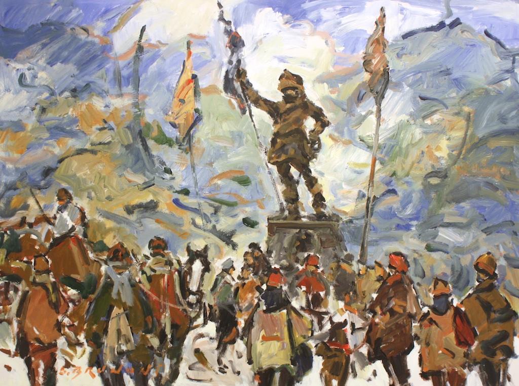 Hommage a Maisonneuve<br>36 x 48<br>Acrylic on Canvas<br>$ 6700