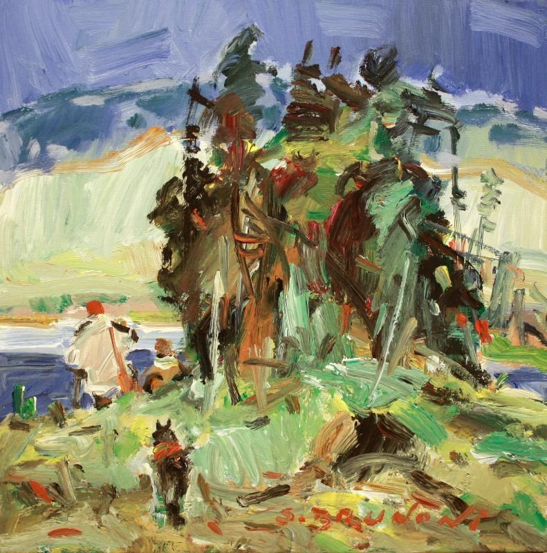 C'est La<br>20 x 20<br>Acrylic on Canvas<br>$ 2300