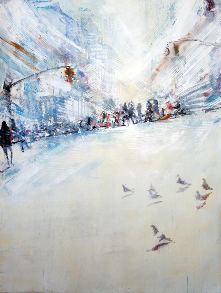 Flock <br> David Antonides <br> 67 x 53 <br> Watercolour <br>