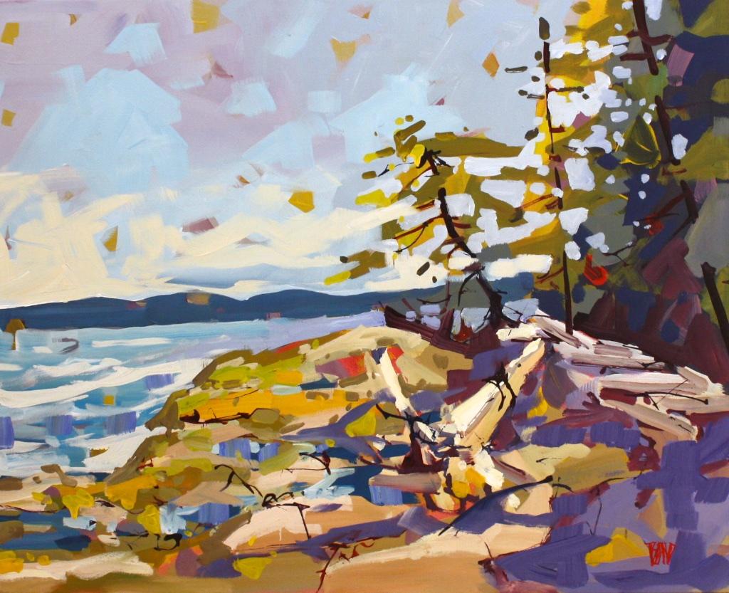 Edge of Galliano <br> Rick Bond <br> 24 x 30 <br> Acrylic on Canvas