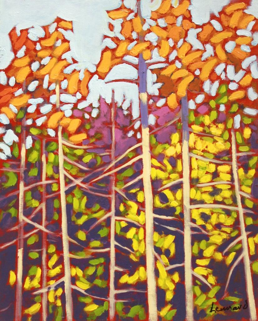 Autumn <br> John Lennard <br> 8 x 10 <br> Oil on Board