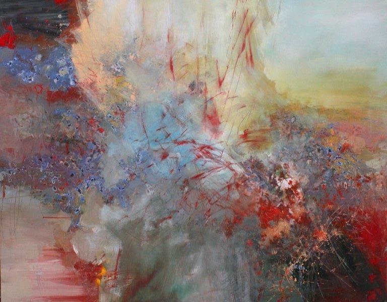 Anton Bruckner, Motet, Os Justi <br> Ernestine Tahedl <br> 58 x 47 <br> Acrylic on Canvas
