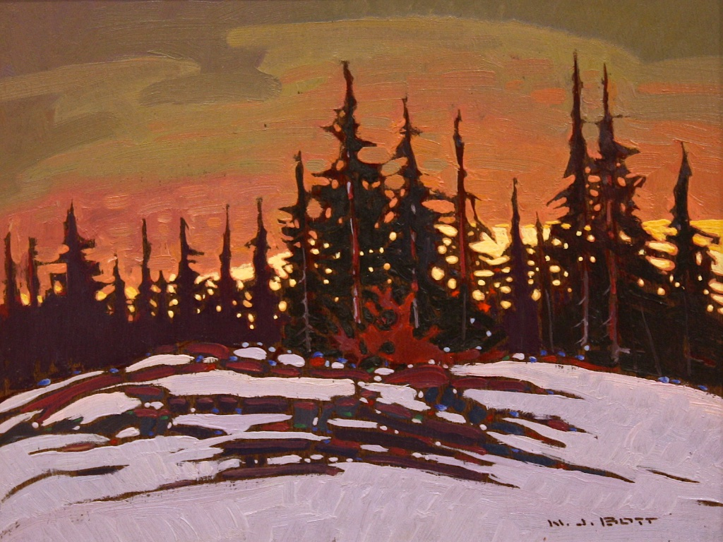 Northern B.C.  8 x 10  Oil on Board  SOLD
