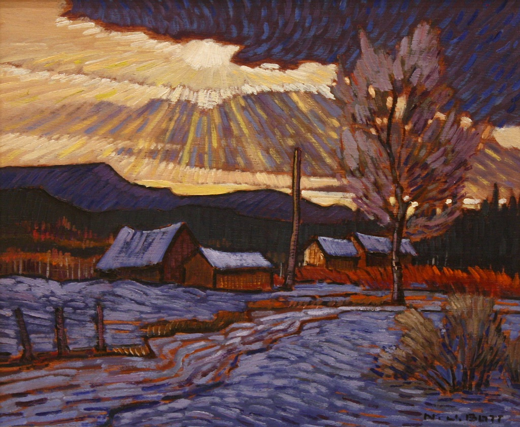 Winter Sun (1992)  10 x 12  Oil on Board  SOLD