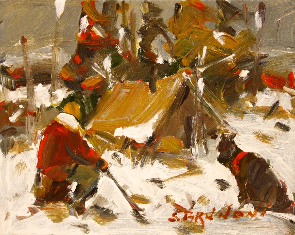 Un Refuge  8 x 10  Acrylic on Canvas  SOLD