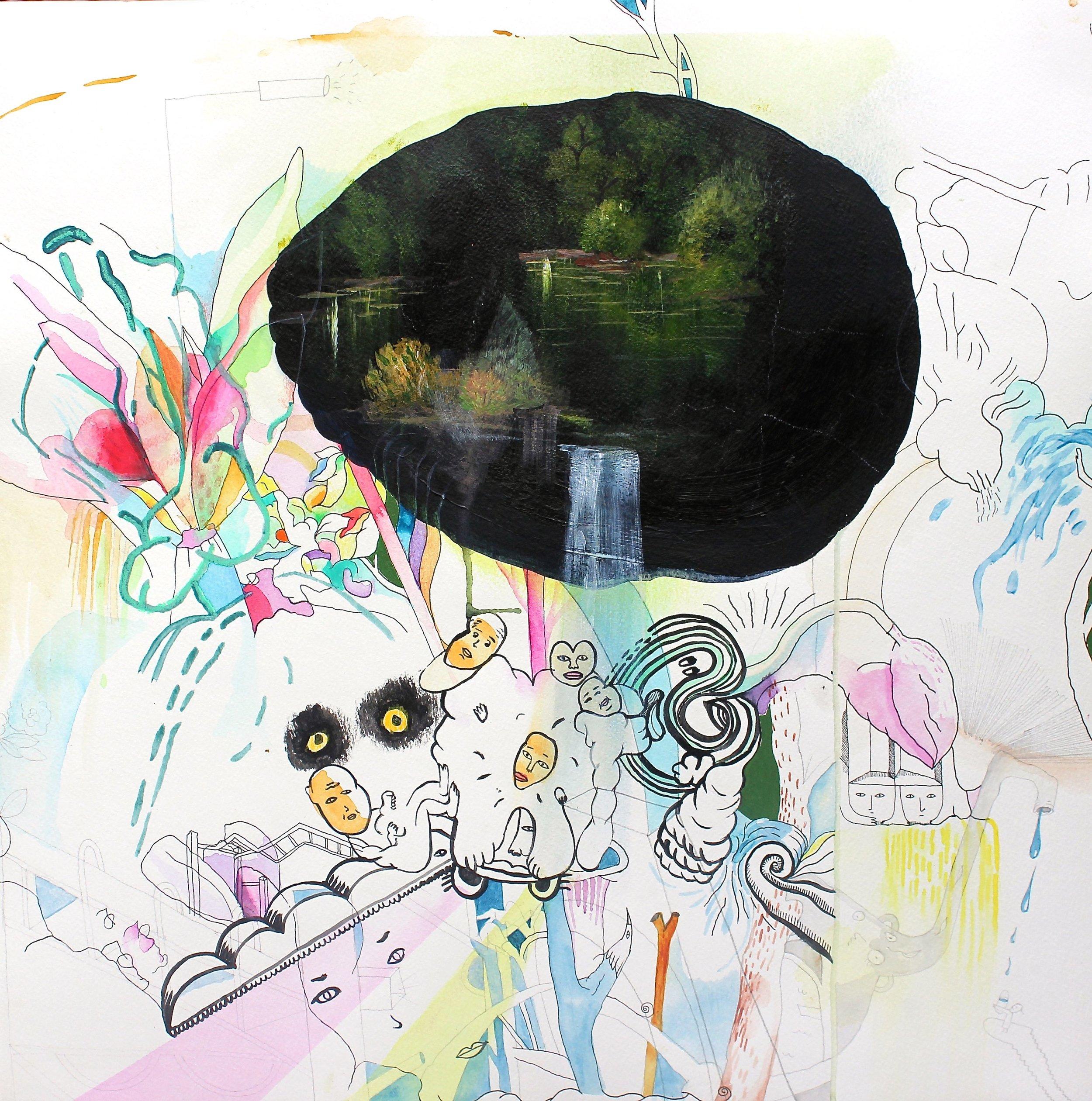 Eleven<Br>Tamara Bond<Br>22 x 22<Br>Mixed Media on Paper<Br>$ 1800