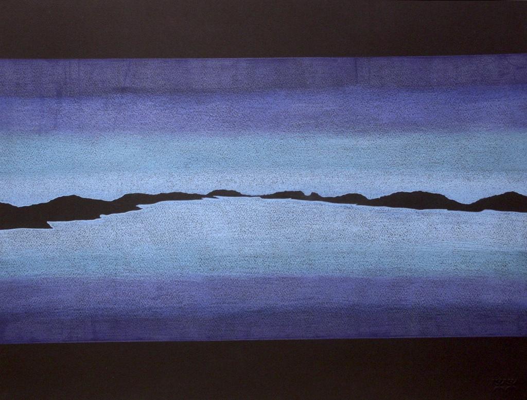 Landscape 2017 (196-0253)<Br>Pudlo Samayualie<Br>22 x 27.5<Br>Coloured Pencil on Paper<Br>$ 1550