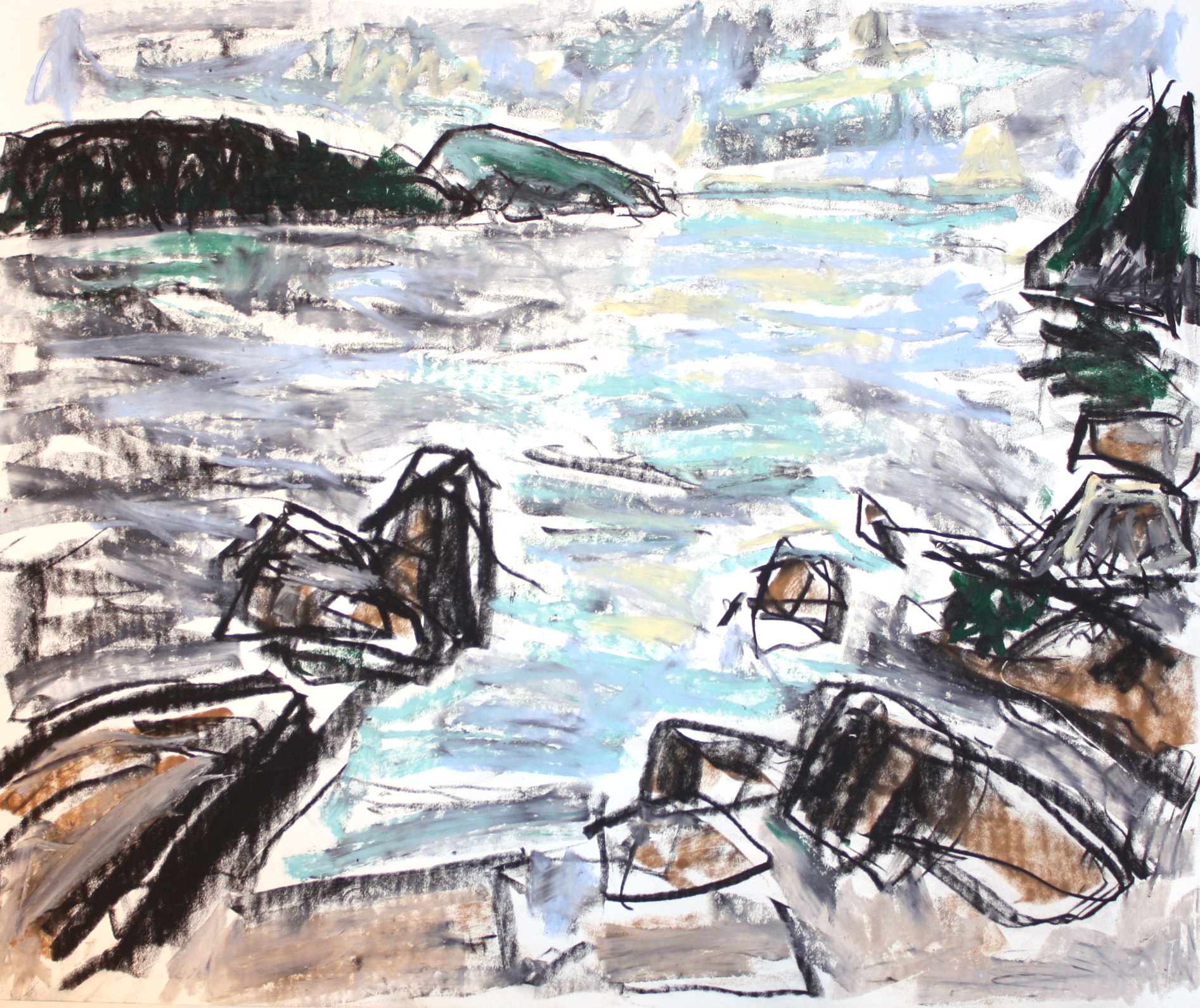 From Southey Point (Saltspring) <br> Barry Hodgson <br> 10 x 12 <br> Pastel on Paper <br> $845