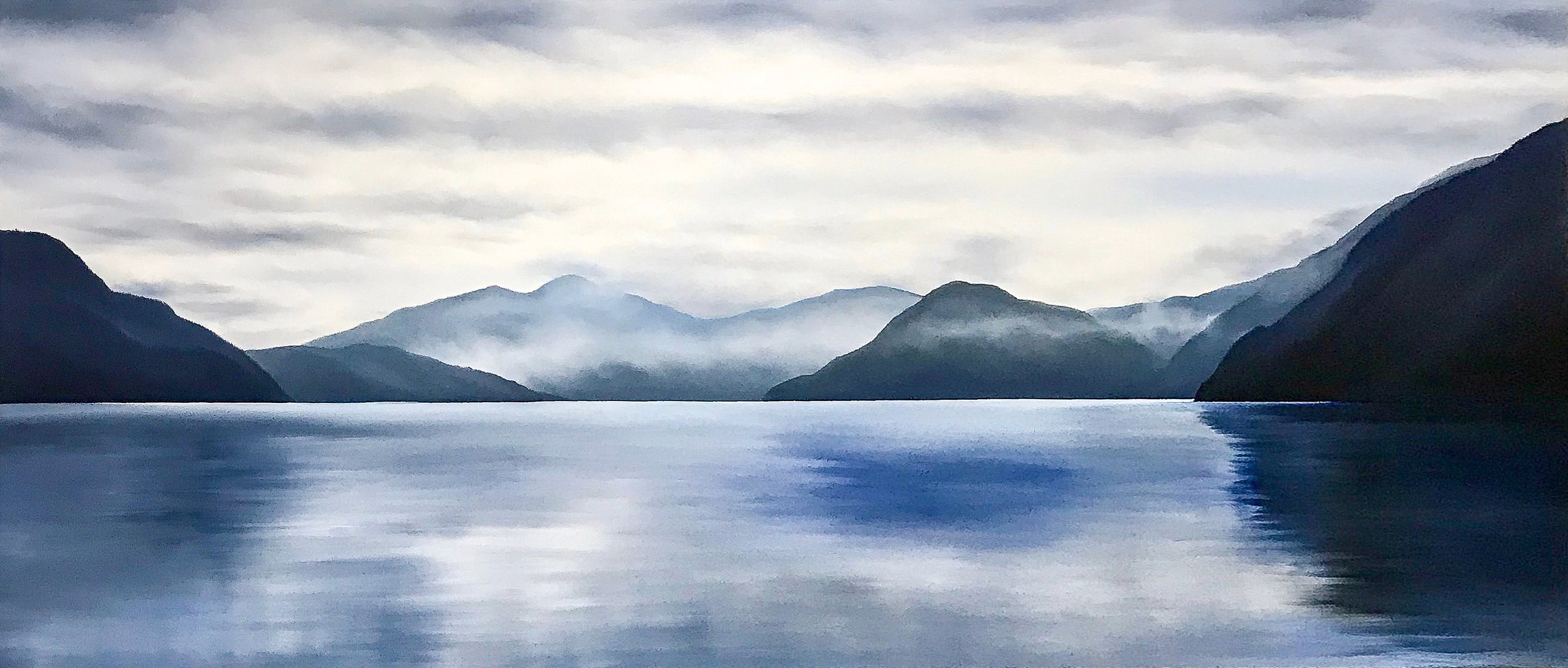 The Winds Softly Fall Away  40 x 96  Oil on Canvas  SOLD