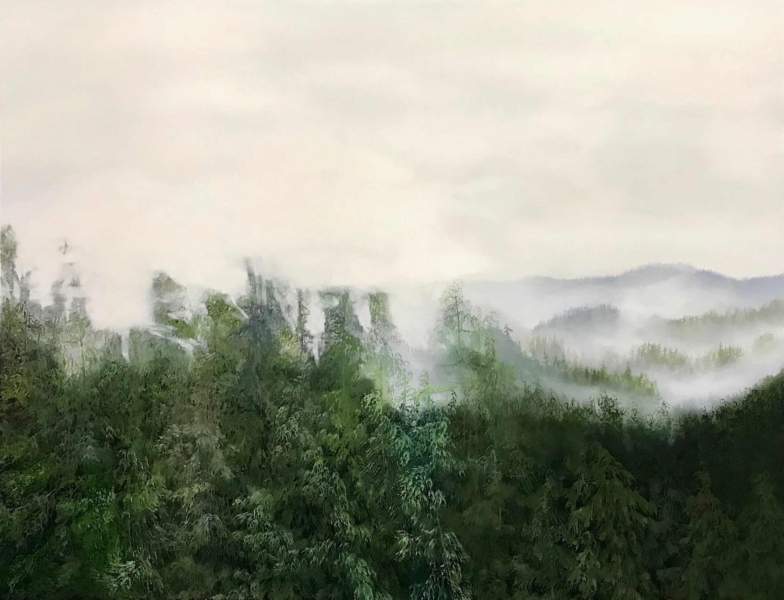 Through the Mist  36 x 48  Oil on Canvas  SOLD