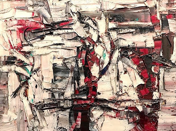 Jean-Paul Riopelle<br>Untitled<br>29.5 x39.75<br>1959<br>SOLD