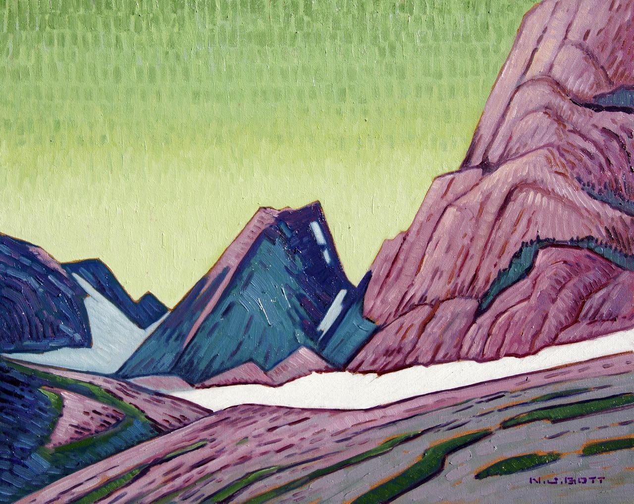 Mount Dag Shadows<br>16 x 20<br>Oil on Canvas<br>$ 2450