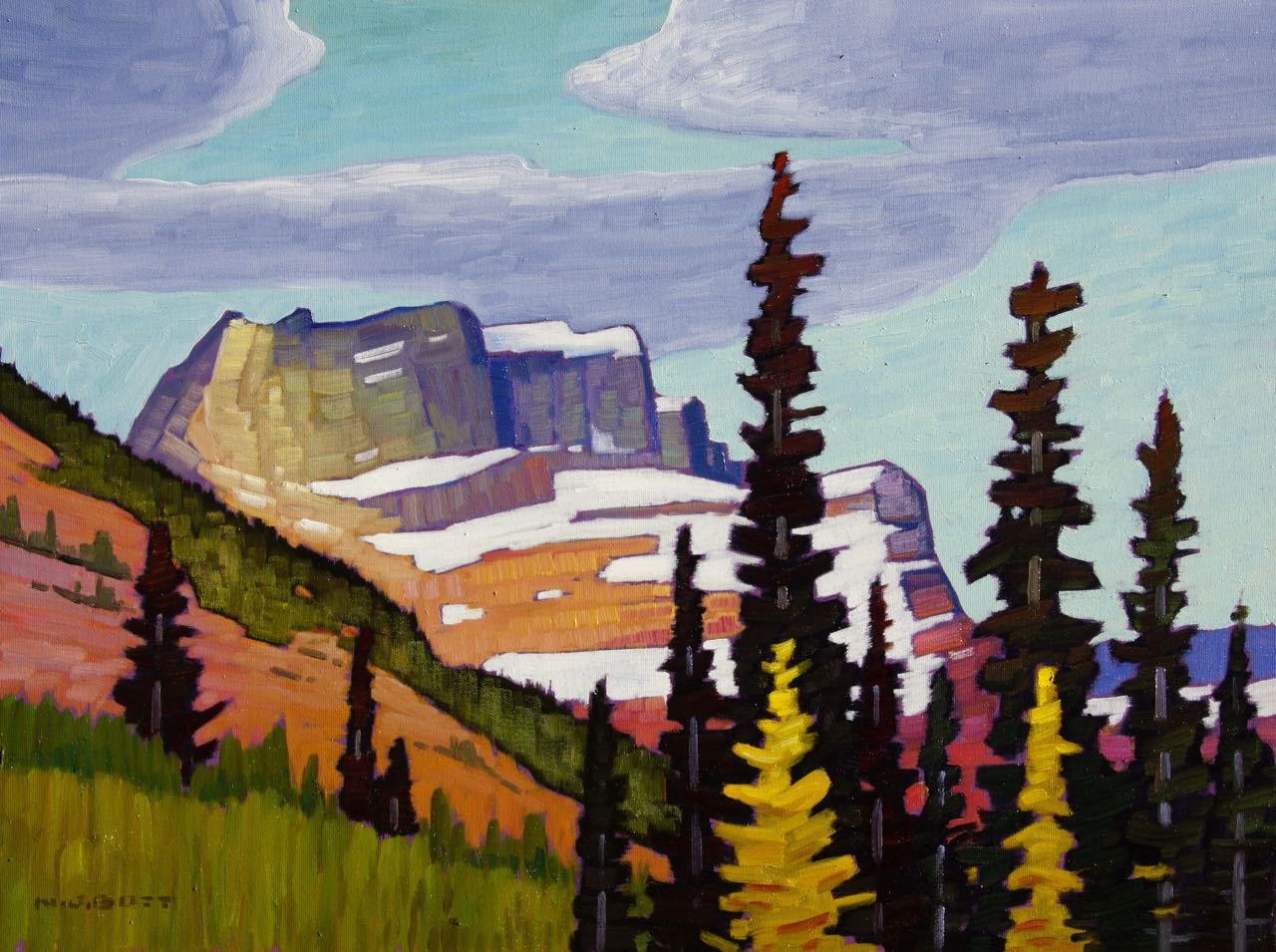 Mountain Spendour<br>18 x 24<br>Oil on Canvas<br>SOLD