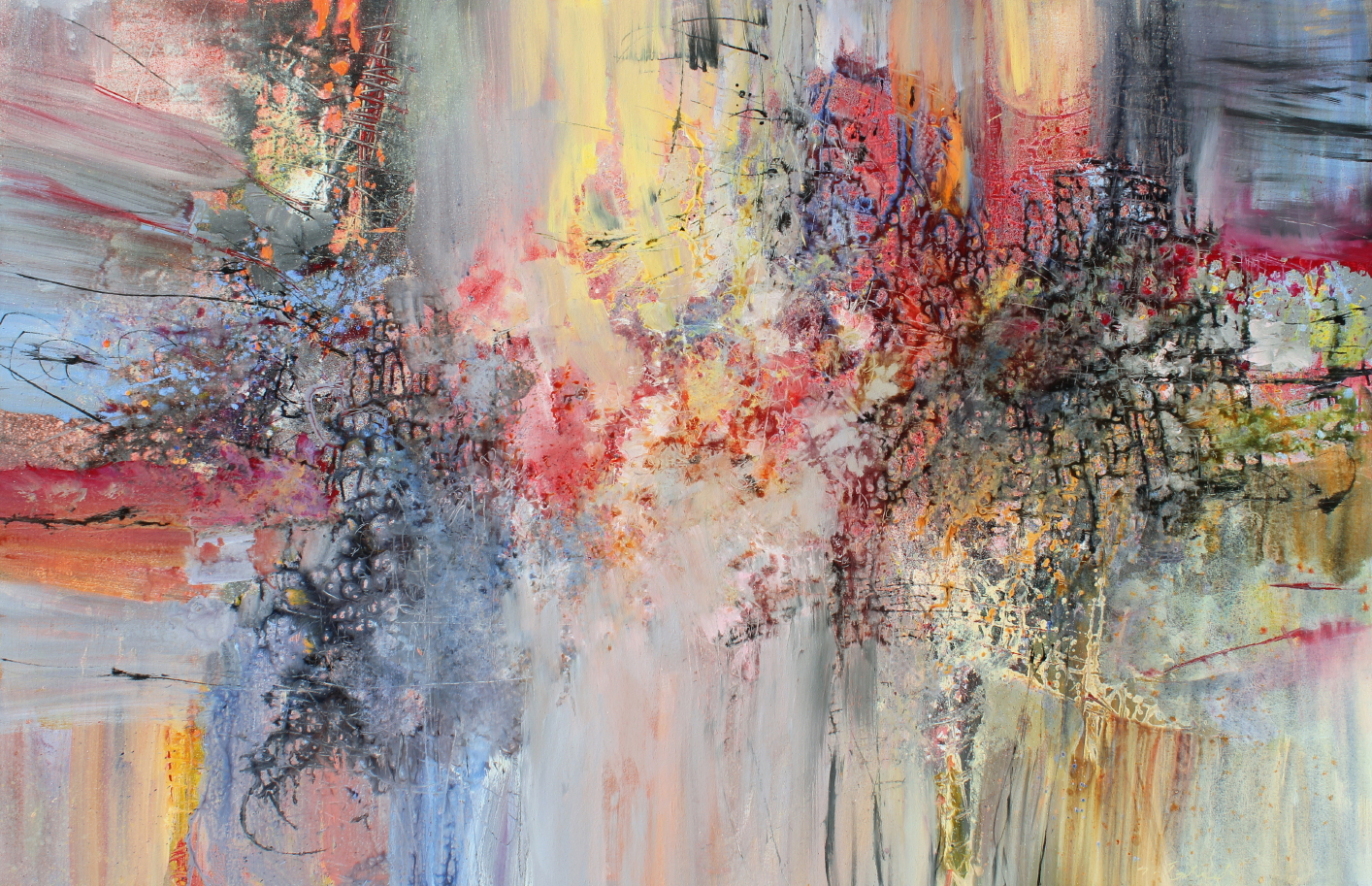 "Anton Bruckner, Symphony No. 2, 52 x 80"", Acrylic on Canvas,  sold"