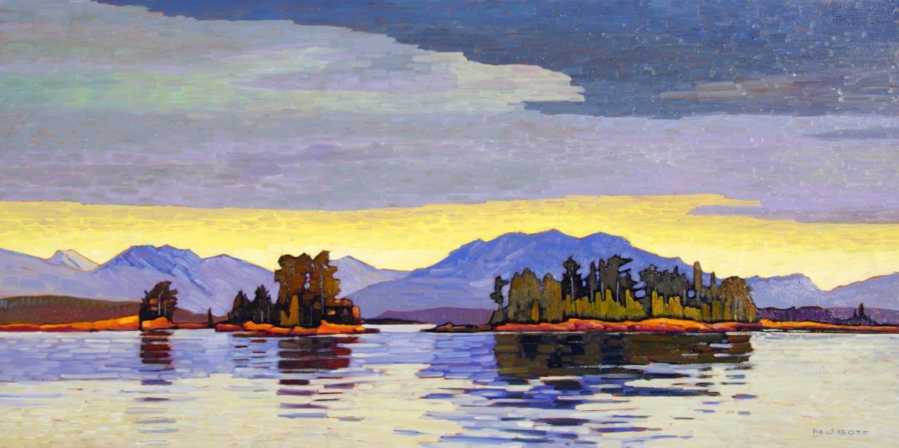 West Coast Islands Near Bamfield<br>24 x 48<br>Oil on Canvas<br>SOLD