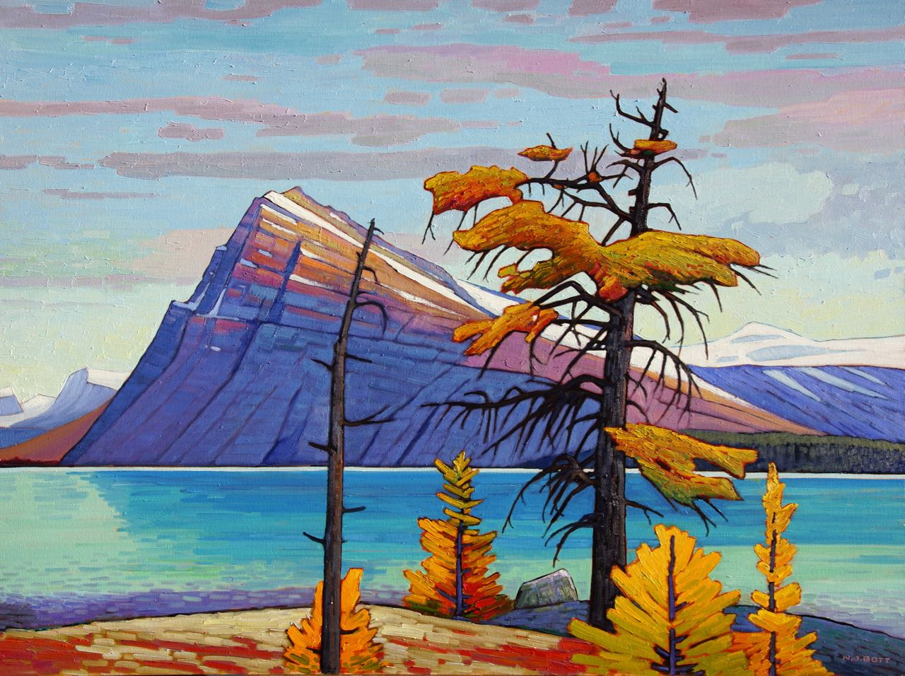 Light over Crowfoot Mountain<br>36 x 48<br>Oil on Canvas<br>SOLD