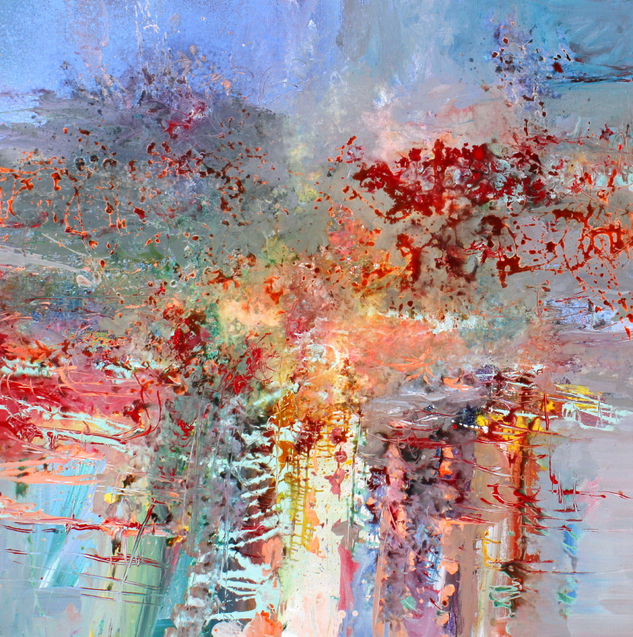 Anton Bruckner Symphony No. 1<Br>48 x 48<Br>Acrylic on Canvas<br>SOLD