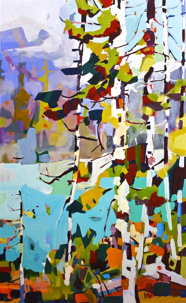 White Aspen<Br>48 x 36<Br>Acrylic on Canvas<Br>SOLD