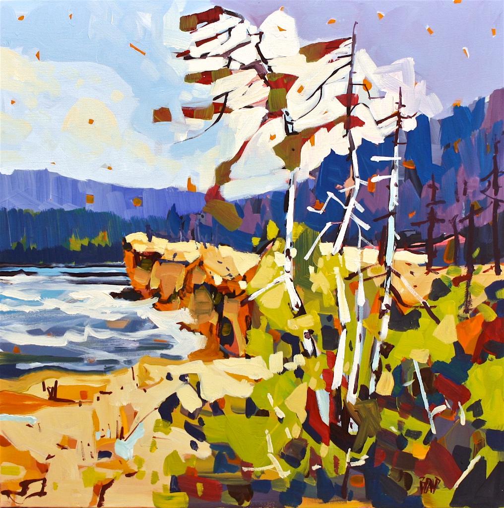 Hellwell Bluffs<Br>30 x 30<Br>Acrylic on Canvas<Br>$ 3050