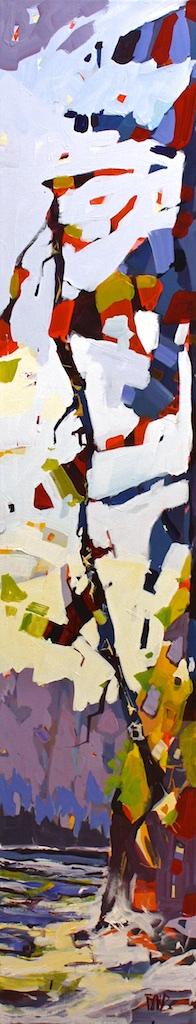 Echo Bay Freckles<Br>60 x 12<Br>Acrylic on Canvas<Br>$ 3100
