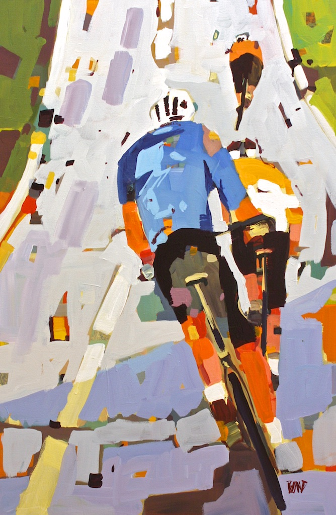 Morning Cycle<Br>36 x 24<Br>Acrylic on Canvas<Br>$ 3050