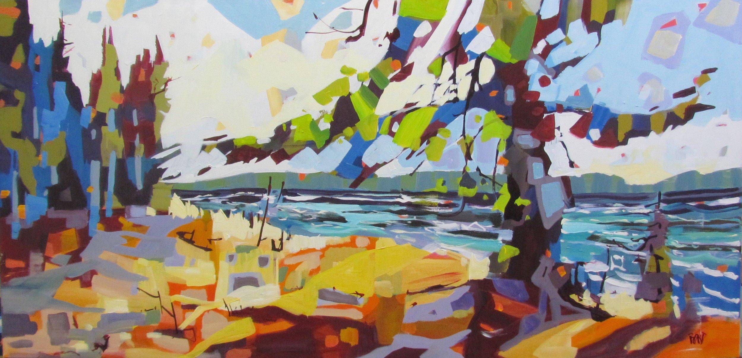 Wind Through the Spruce<Br>30 x 60<Br>Acrylic on Canvas<Br>$ 4850