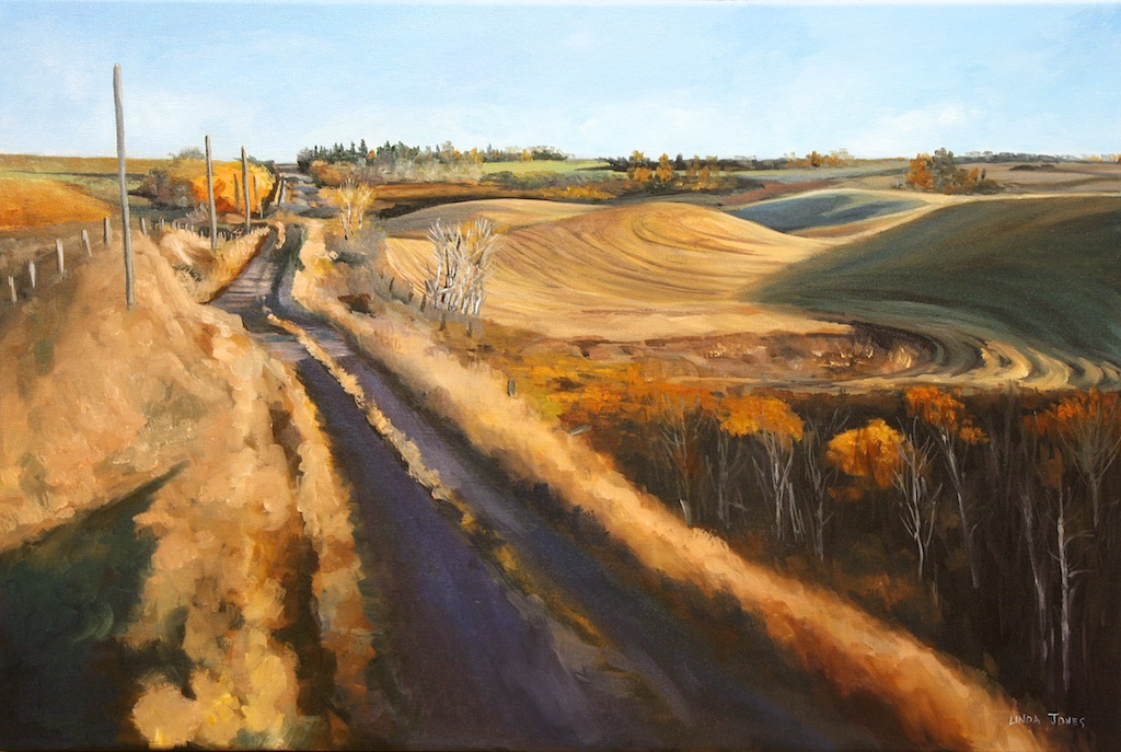 Fast Train Slow Road<Br>20 x 30<Br>Oil on Canvas<Br>$ 1550