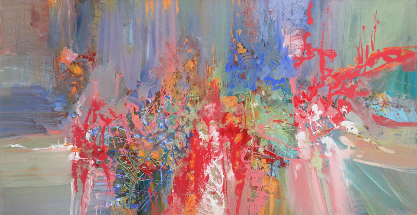 Antonio Vivaldi, Summer <br> 36 x 68 <br> Acrylic on Canvas <Br> $ 4900