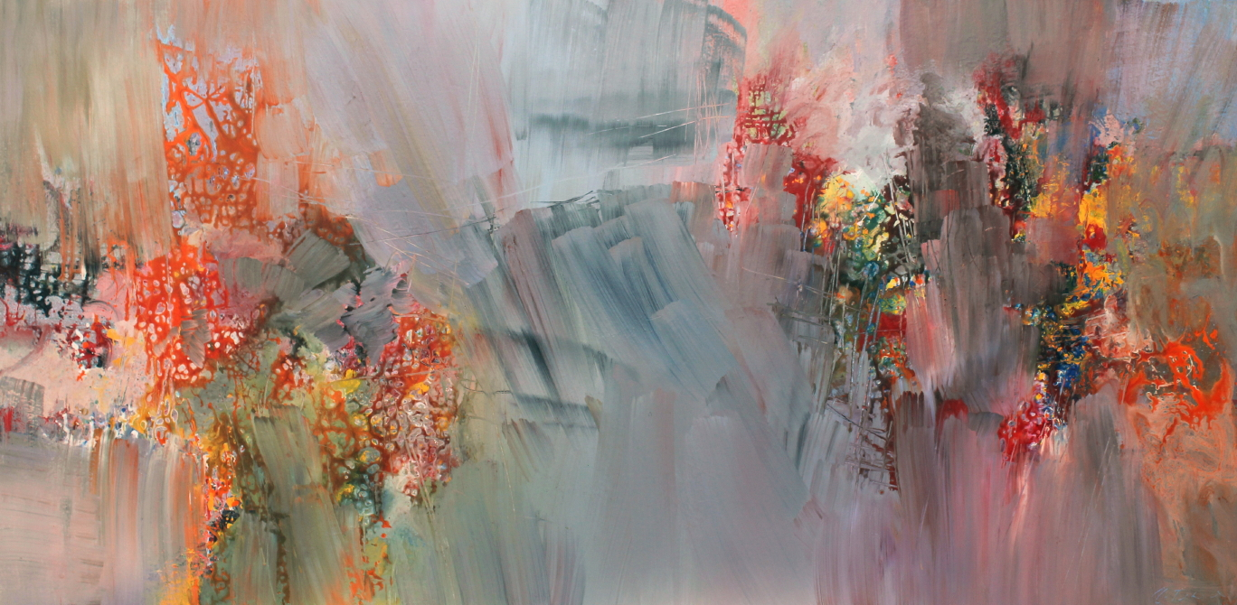 Richard Strauss, Four Last Songs, September II <br> 36 x 72 <br> Acrylic on Canvas<br>SOLD