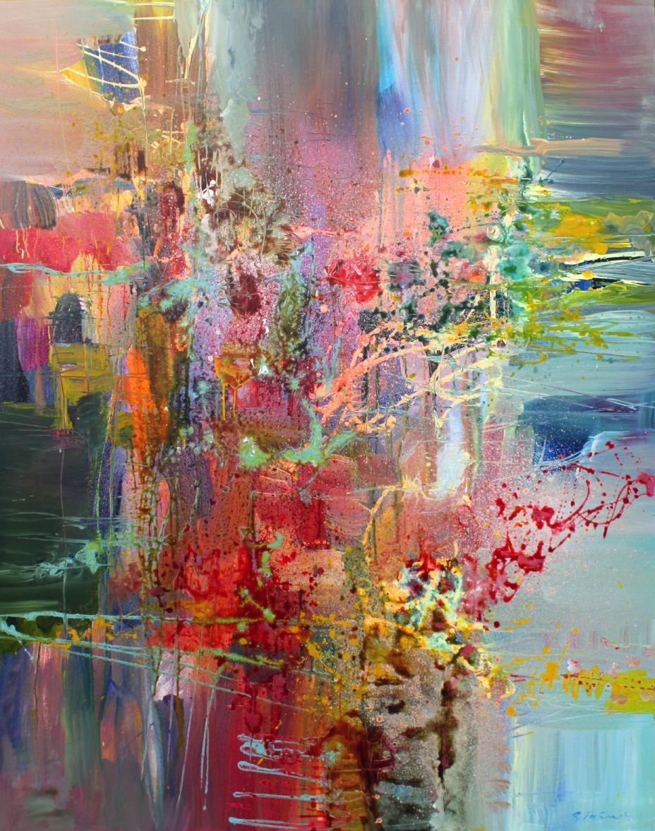 Claudio Monteverdi, Canzonette <br> 60 x 48 <br> Acrylic on Canvas<br>SOLD