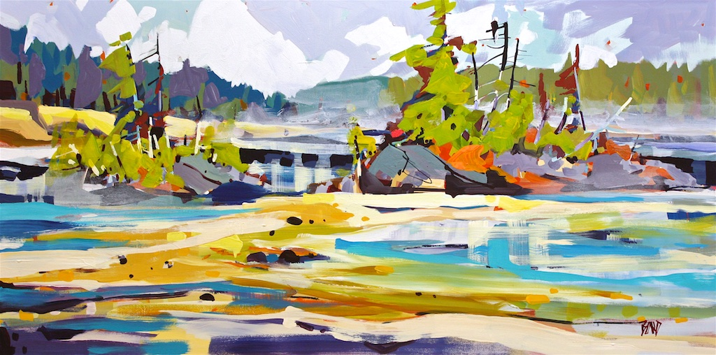 Low Tide<Br>24 x 48<Br>Acrylic on Canvas<Br>SOLD