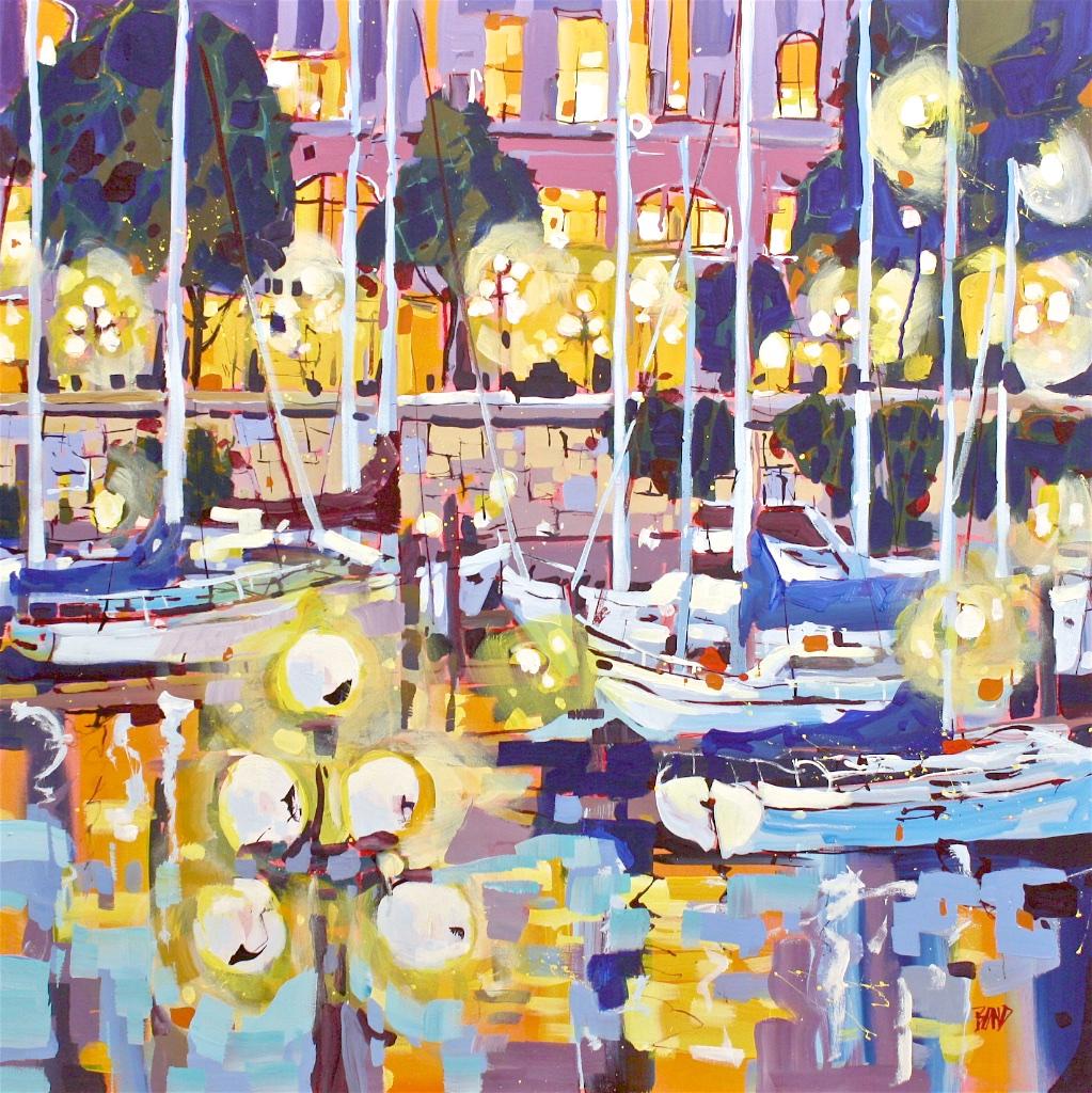Night Lights  40 x 40  Acrylic on Canvas  SOLD